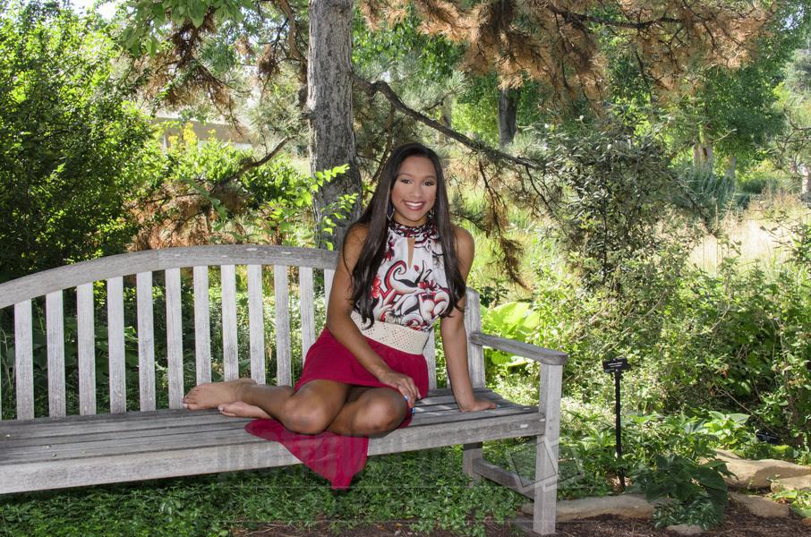 Daisha, High School Senior Sitting On Bench