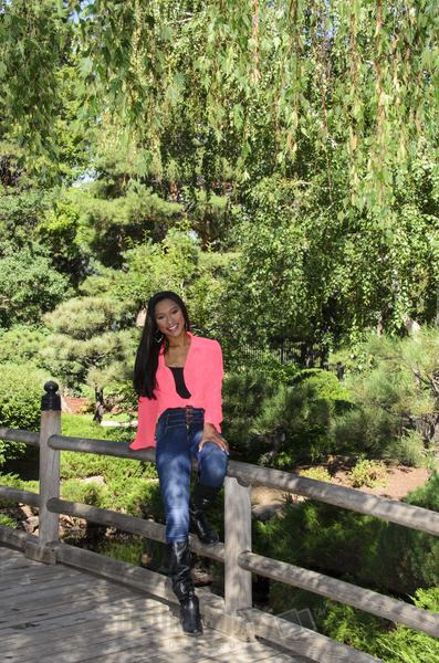 Daisha, High School Senior Sitting On Bridge Railing