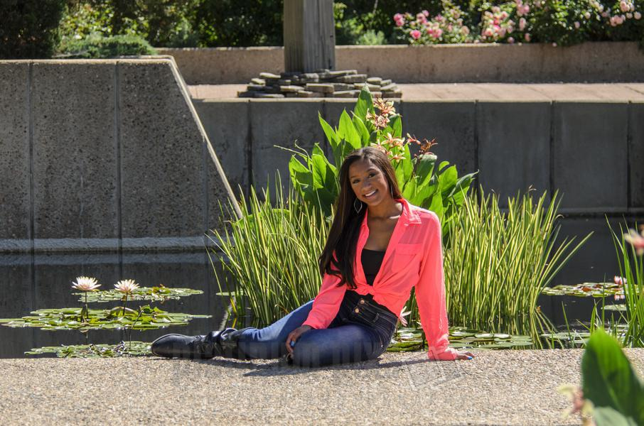 Daisha, High School Senior Sitting With Pond Background